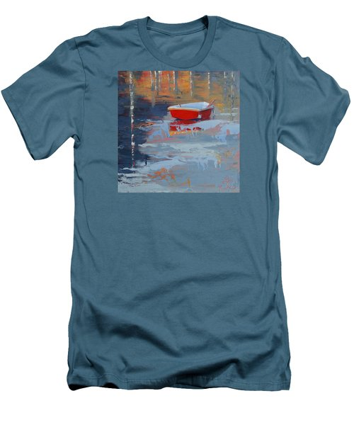 Red Reflections Men's T-Shirt (Slim Fit) by Trina Teele