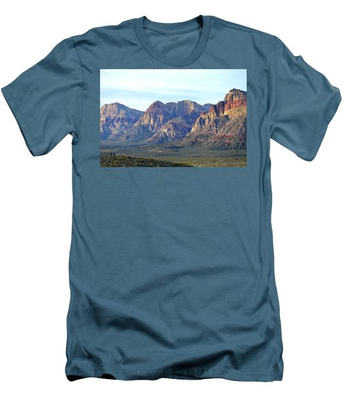 Men's T-Shirt (Slim Fit) featuring the photograph Red Rock Canyon - Scale by Glenn McCarthy Art and Photography