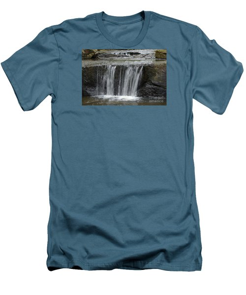 Men's T-Shirt (Slim Fit) featuring the photograph Red Run Waterfall by Randy Bodkins