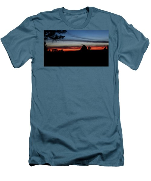 Red Sunset Strip Men's T-Shirt (Athletic Fit)