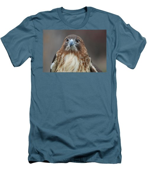 Men's T-Shirt (Slim Fit) featuring the photograph Red Tailed Hawk by Richard Bryce and Family
