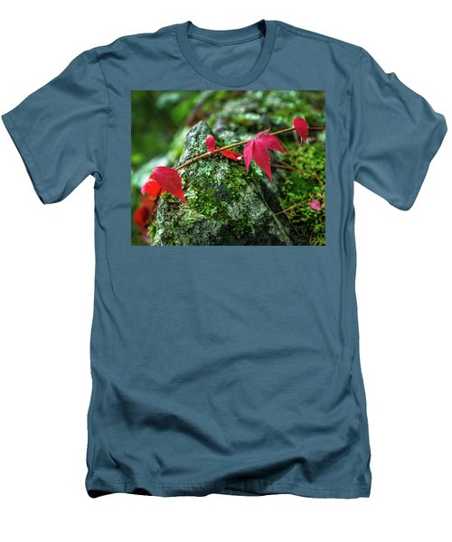 Men's T-Shirt (Athletic Fit) featuring the photograph Red Vine by Bill Pevlor