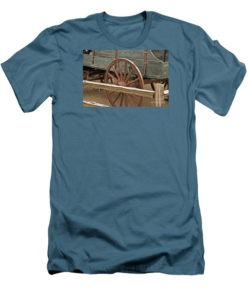 Men's T-Shirt (Slim Fit) featuring the photograph Red Wagon Wheel by Kirt Tisdale