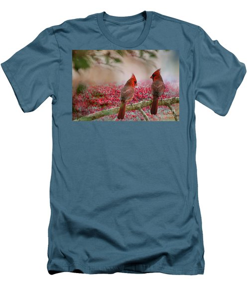 Redbirds At Dusk Men's T-Shirt (Athletic Fit)