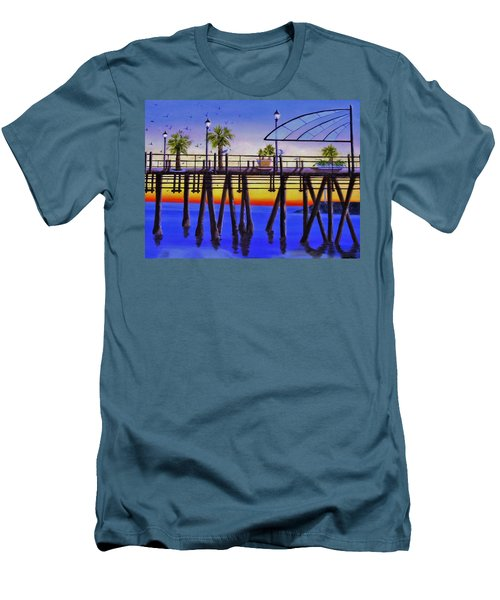 Redondo Beach Pier Men's T-Shirt (Athletic Fit)