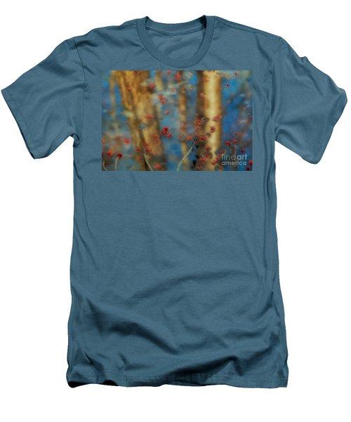 Reflecting Gold Tones Men's T-Shirt (Slim Fit) by Elizabeth Dow