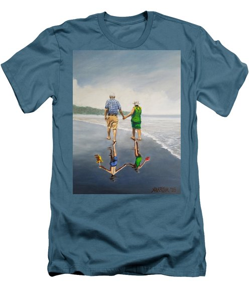 Reflecting On The Past  Men's T-Shirt (Slim Fit) by Jason Marsh