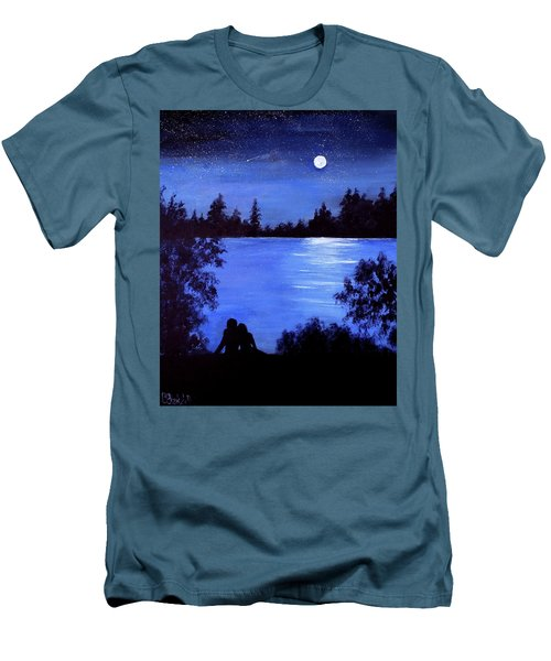Reflection By The Water Men's T-Shirt (Athletic Fit)