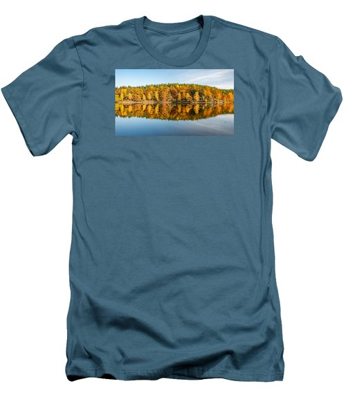 Reflection Of Autumn Men's T-Shirt (Slim Fit) by Andreas Levi