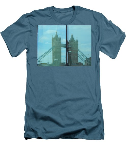 Reflection Tower Bridge Men's T-Shirt (Athletic Fit)