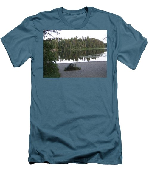 Reflections Lake 1 Men's T-Shirt (Slim Fit) by Barbara Yearty