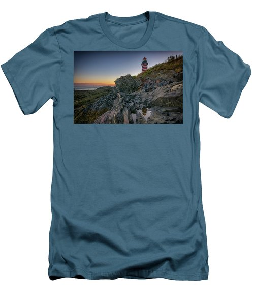 Men's T-Shirt (Athletic Fit) featuring the photograph Reflections Of West Quoddy Head by Rick Berk