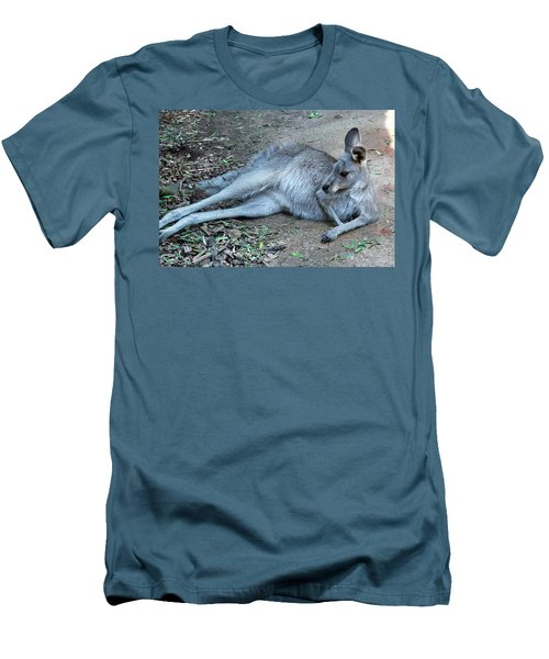 Men's T-Shirt (Athletic Fit) featuring the photograph Relaxing Kangaroo by Miroslava Jurcik