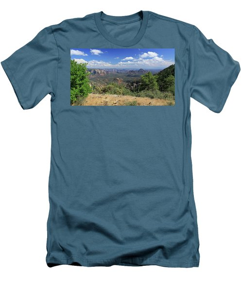 Men's T-Shirt (Slim Fit) featuring the photograph Remote Vista by Gary Kaylor