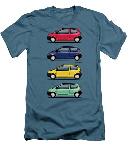Renault Twingo 90s Colors Quartet Men's T-Shirt (Slim Fit) by Monkey Crisis On Mars