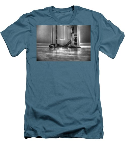 Men's T-Shirt (Slim Fit) featuring the photograph Rendezvous Do Not Disturb 05 Bw by Andy Lawless