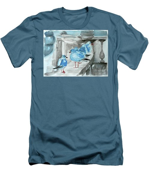 Rest By The Sea Men's T-Shirt (Slim Fit) by Jasna Dragun