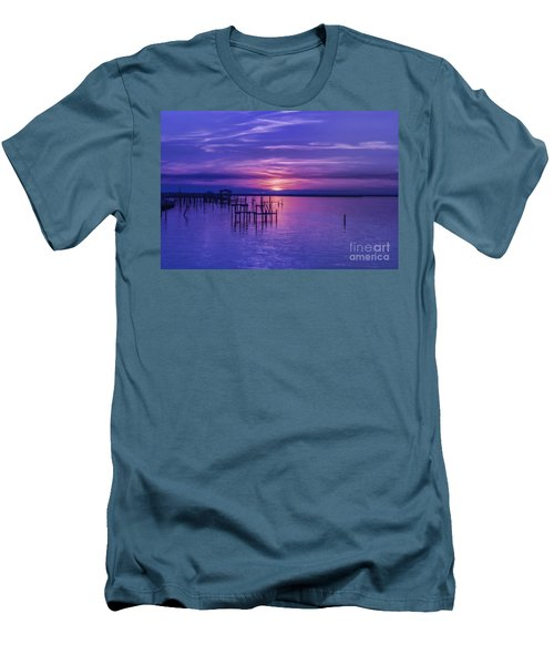 Rest Well World Purple Sunset Men's T-Shirt (Athletic Fit)
