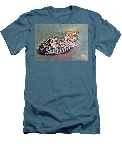 Resting Leopard Men's T-Shirt (Athletic Fit)