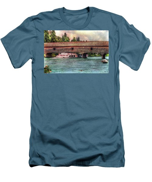 Men's T-Shirt (Athletic Fit) featuring the photograph Rhine Shipping by Hanny Heim
