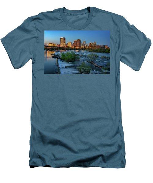 Men's T-Shirt (Slim Fit) featuring the photograph Richmond Twilight by Rick Berk