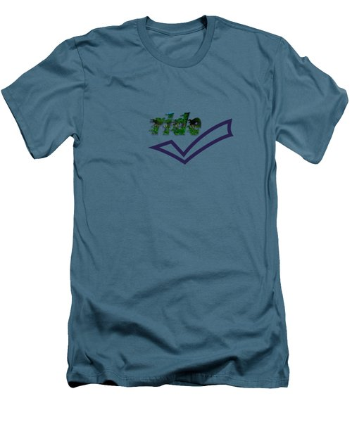 Ride Text Men's T-Shirt (Slim Fit) by Mim White