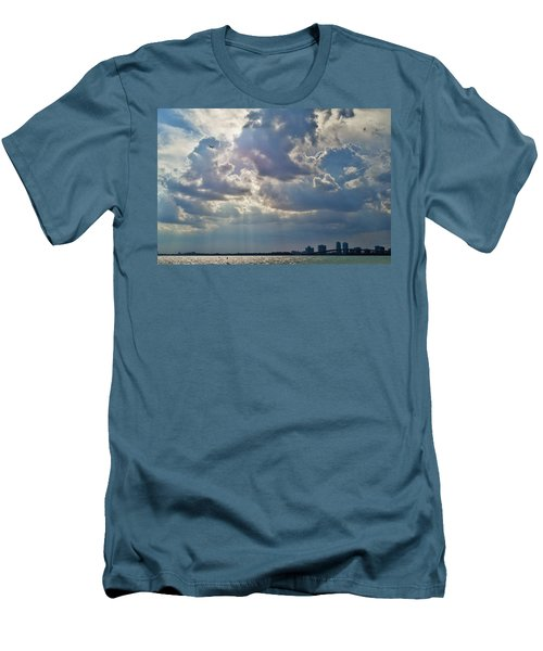 Riding In The Storm Men's T-Shirt (Slim Fit) by Camille Lopez