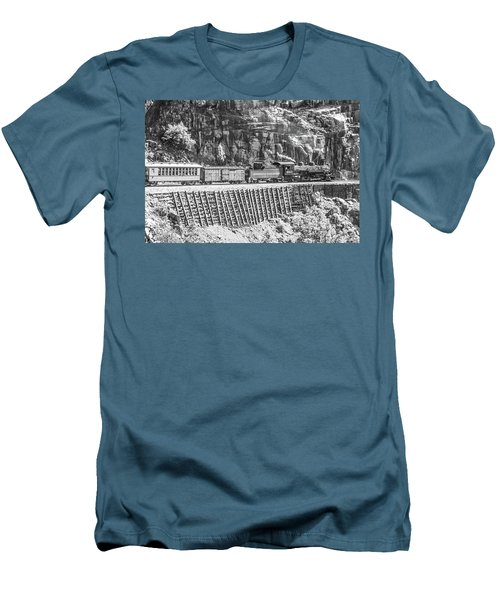 Men's T-Shirt (Athletic Fit) featuring the photograph Riding The Edge by Colleen Coccia