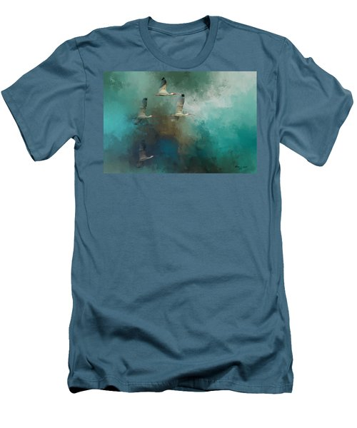 Riding The Winds Men's T-Shirt (Slim Fit) by Marvin Spates