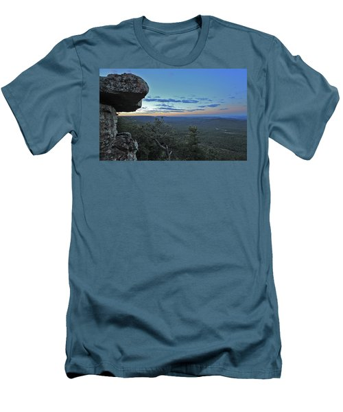 Men's T-Shirt (Slim Fit) featuring the photograph Rim Daybreak by Gary Kaylor