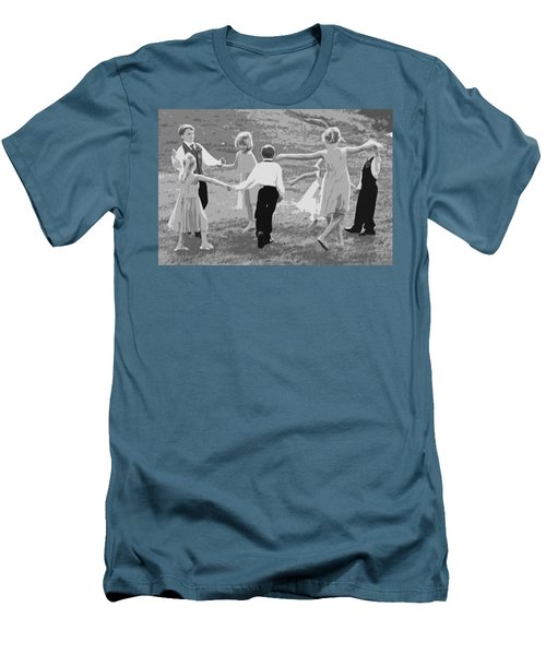 Ring Around The Rosy Men's T-Shirt (Slim Fit) by Colleen Coccia