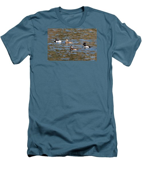 Ring Neck Ducks 20120314_d Men's T-Shirt (Slim Fit) by Tina Hopkins