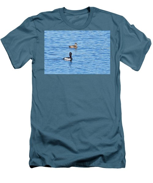Men's T-Shirt (Slim Fit) featuring the photograph Ring-neck Ducks by Michael Peychich