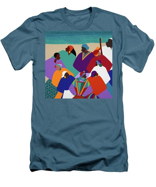 Ring Shout Gullah Islands Men's T-Shirt (Athletic Fit)