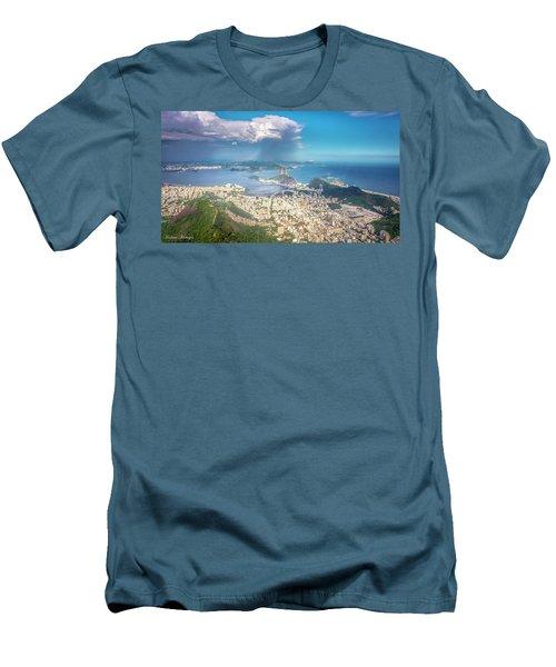 Rio De Janeiro Men's T-Shirt (Slim Fit) by Andrew Matwijec