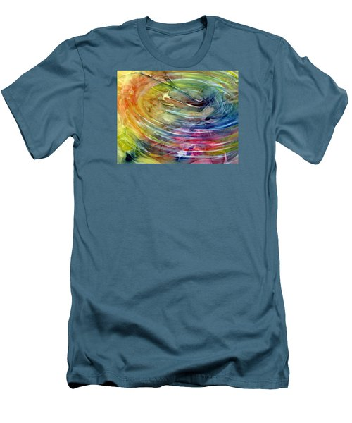 Men's T-Shirt (Slim Fit) featuring the painting Ripples by Allison Ashton