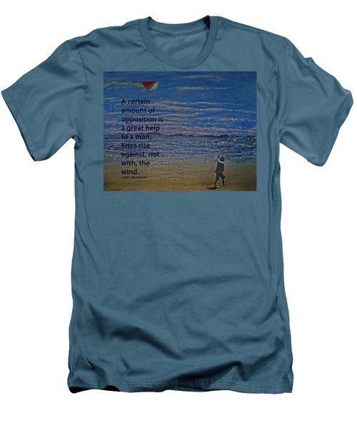 Rise Against The Wind Men's T-Shirt (Slim Fit) by Ian  MacDonald
