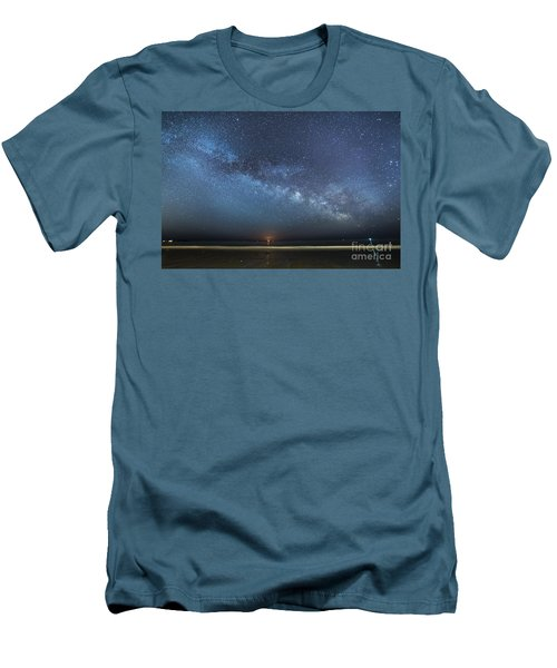 Rising Tide Rising Moon Rising Milky Way Men's T-Shirt (Athletic Fit)