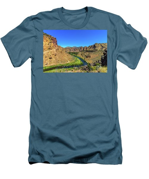 Men's T-Shirt (Athletic Fit) featuring the photograph River Through Mountains by Jonny D
