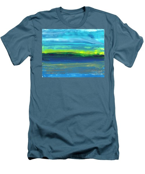Riverbank Green Men's T-Shirt (Athletic Fit)