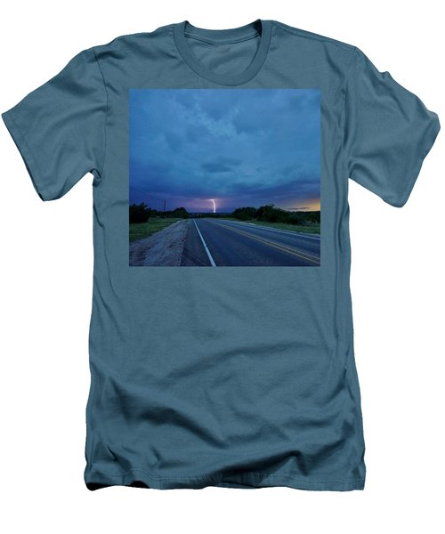Lightning Over Sonora Men's T-Shirt (Slim Fit) by Ed Sweeney