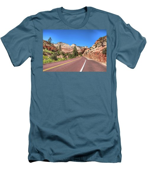 Men's T-Shirt (Slim Fit) featuring the photograph Road To Zion by Brent Durken