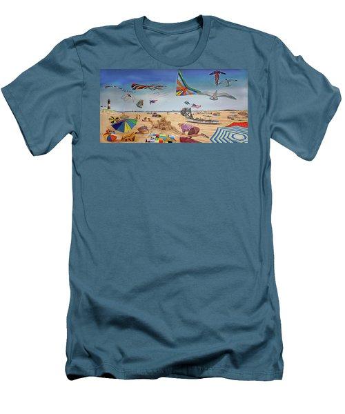 Robert Moses Beach Towel Version Men's T-Shirt (Athletic Fit)