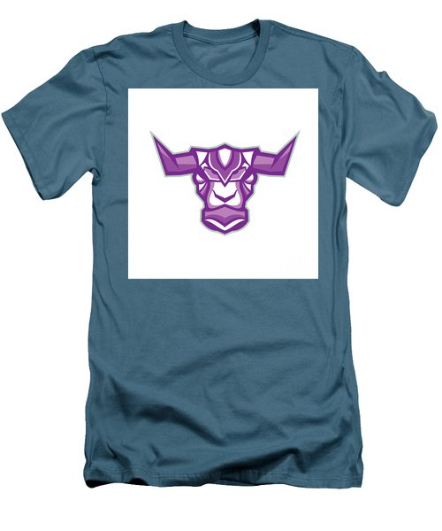 Robot Yak Bull Head Front Men's T-Shirt (Athletic Fit)