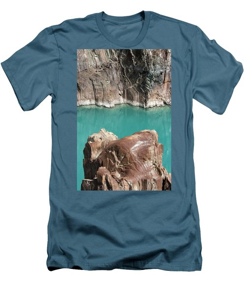 Men's T-Shirt (Athletic Fit) featuring the photograph Rock Formation Of Zanskar, Ladakh, 2009 by Hitendra SINKAR