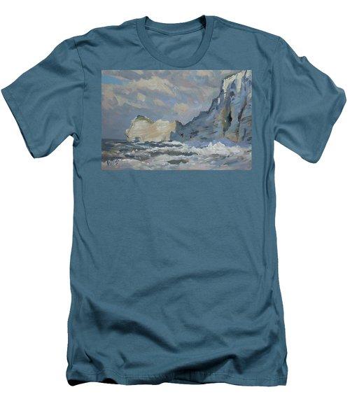 Rock Of Amont Etretat Men's T-Shirt (Athletic Fit)