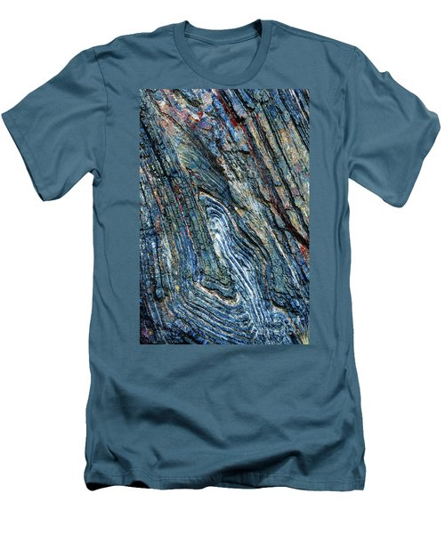 Men's T-Shirt (Athletic Fit) featuring the photograph Rock Pattern Sc03 by Werner Padarin