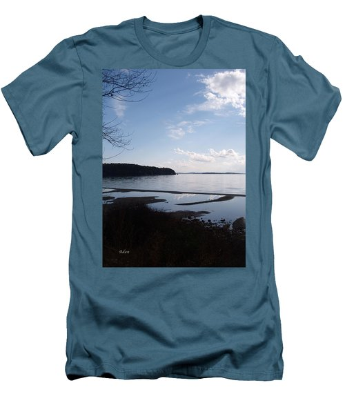 Rock Point North View Vertical Men's T-Shirt (Slim Fit) by Felipe Adan Lerma
