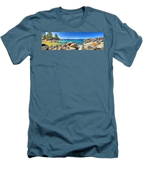 Rocky Cove Sand Harbor Men's T-Shirt (Slim Fit)