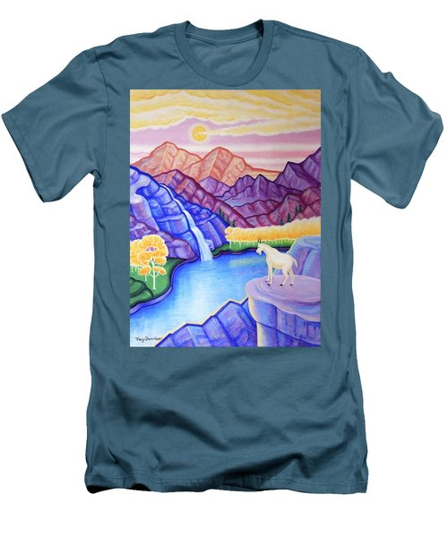 Rocky Mountain High Men's T-Shirt (Slim Fit) by Tracy Dennison